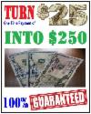 TURN A ONE-TIME $25 PAYPAL PAYMENT INTO $250 GUARANTEED
